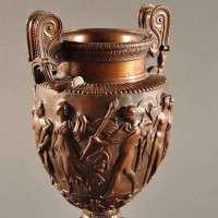 Bronze Vase in ancient Roman Style, a so-called Volute Krater