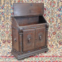 Antique oak Carved writing desk