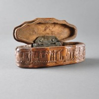 Antique Dutch snuff box of Baroque form