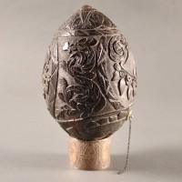 Finely Carved Dutch Coconut Flask