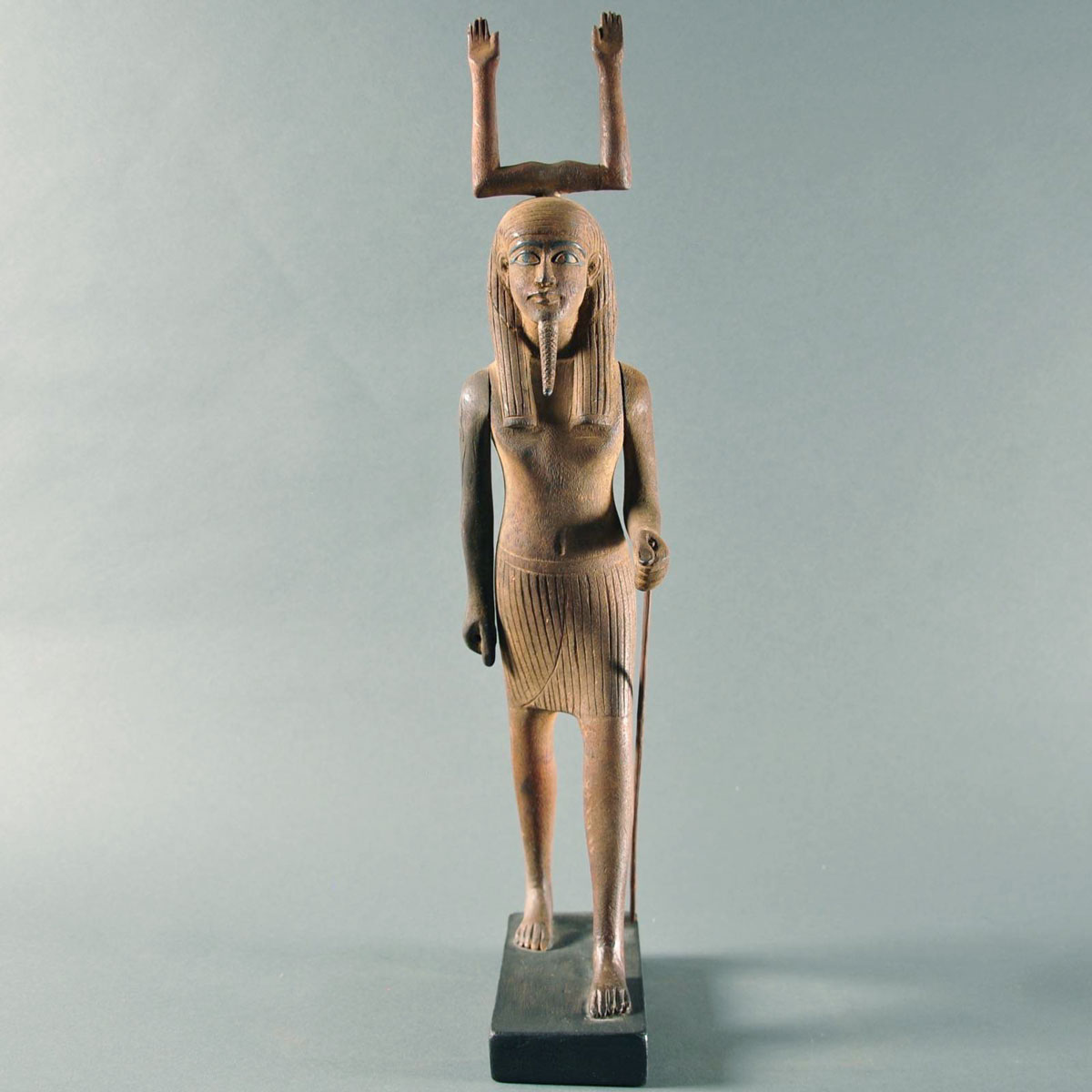 Egyptian carved wood Ka statue | De Grande Early sculptures