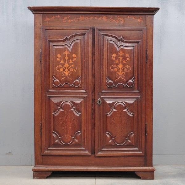 Antique French walnut armoire