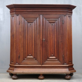 Antique German oak armoire