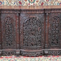 Colonial carved cupboard
