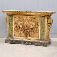 Antique Italian Baroque console table