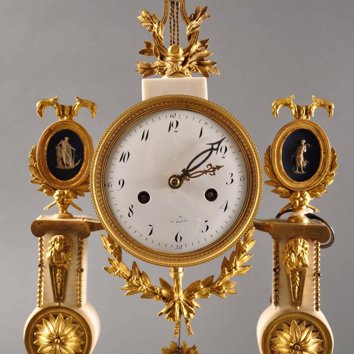 Antique French Pillar Clock De Grande Antique Amp Decorative