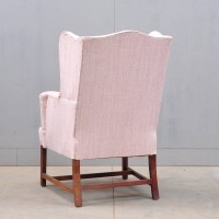 Antique Mahogany wing armchair