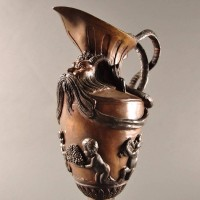 Antique Ornamental ewer cast in bronze