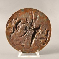 Bronze of Musical duel between Apollo and Pan, in the manner of Francesco Fanelli
