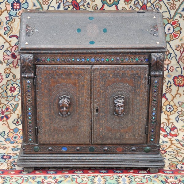 Antique Carved writing cabinet