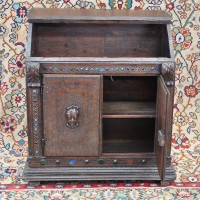 Oak Carved writing cabinet