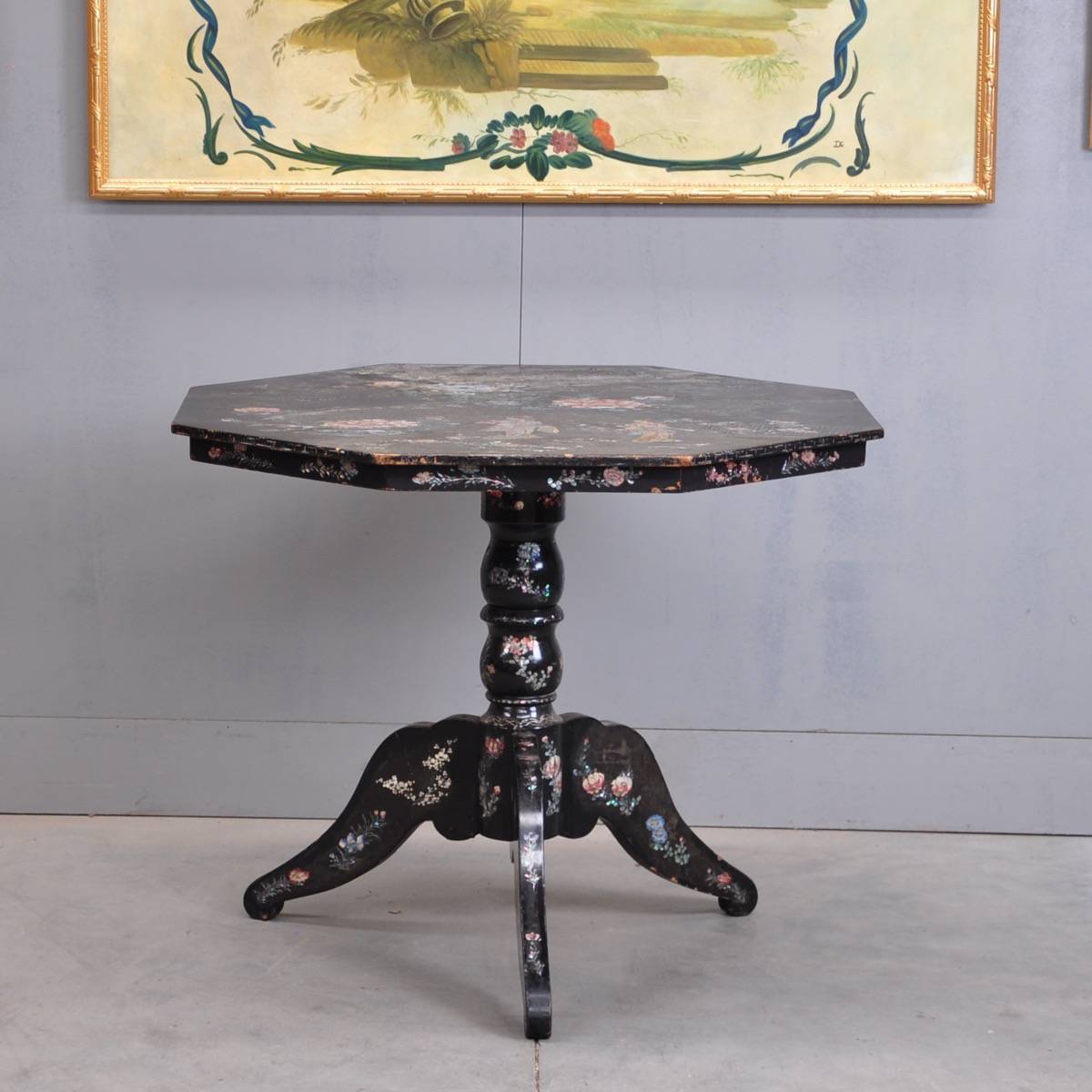 Chinese Antique Table Black Lacquer