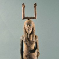 Ancient Egyptian carved wood Ka statue