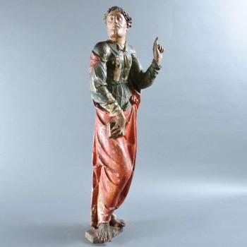 Figure of saint jean carved of wood