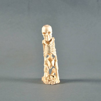 fine carved ivory of human skeleton