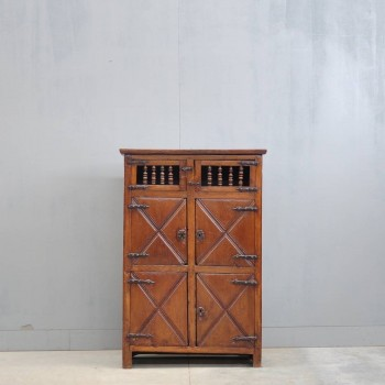 French oak antique cupboard