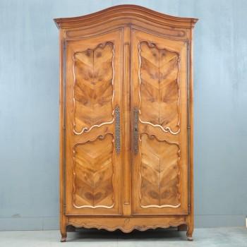 French provincial walnut armoire