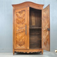 French provincial walnut cupboard