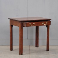 A George III mahogany side table.