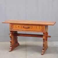 German antique trestle table