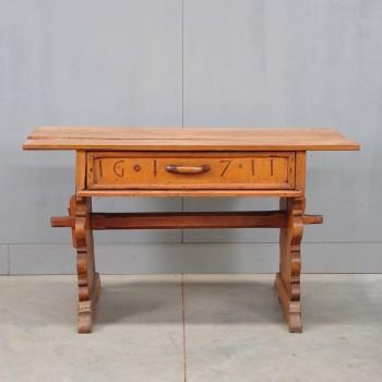 German antique trestle table