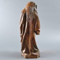 Carved oak Gothic Figure of a female Saint in Mourning