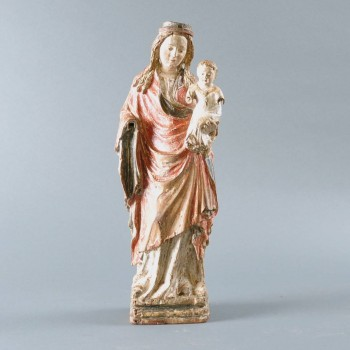 Gothic Virgin and Child sculpture