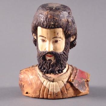 Indo Portuguese ivory bust of saint-joseph