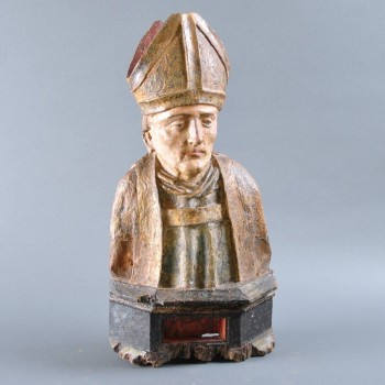 Reliquary bust of a Bishop