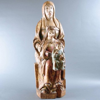 Romanesque Group of Virgin and Child with Saint Anne