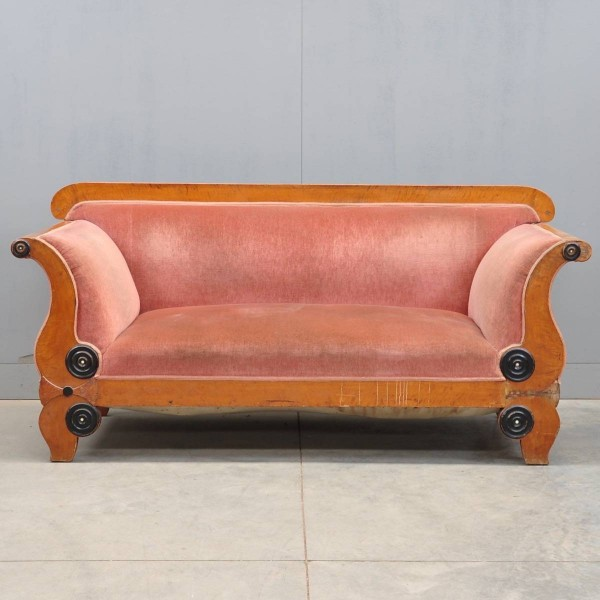 South german fruitwood biedermeier sofa