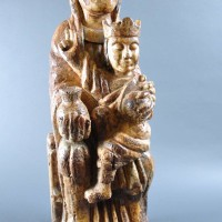Spanish carved softwood Virgin and Child