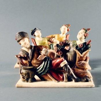 Antique The four Seasons Alabaster Sculpture