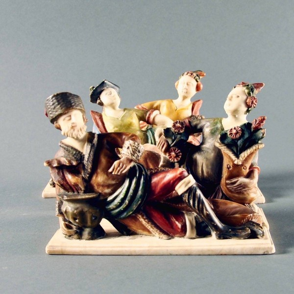 Antique The four Seasons Alabaster Sculpture