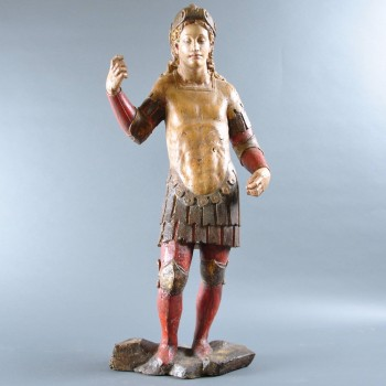 Sculpture of a young Man in Armour