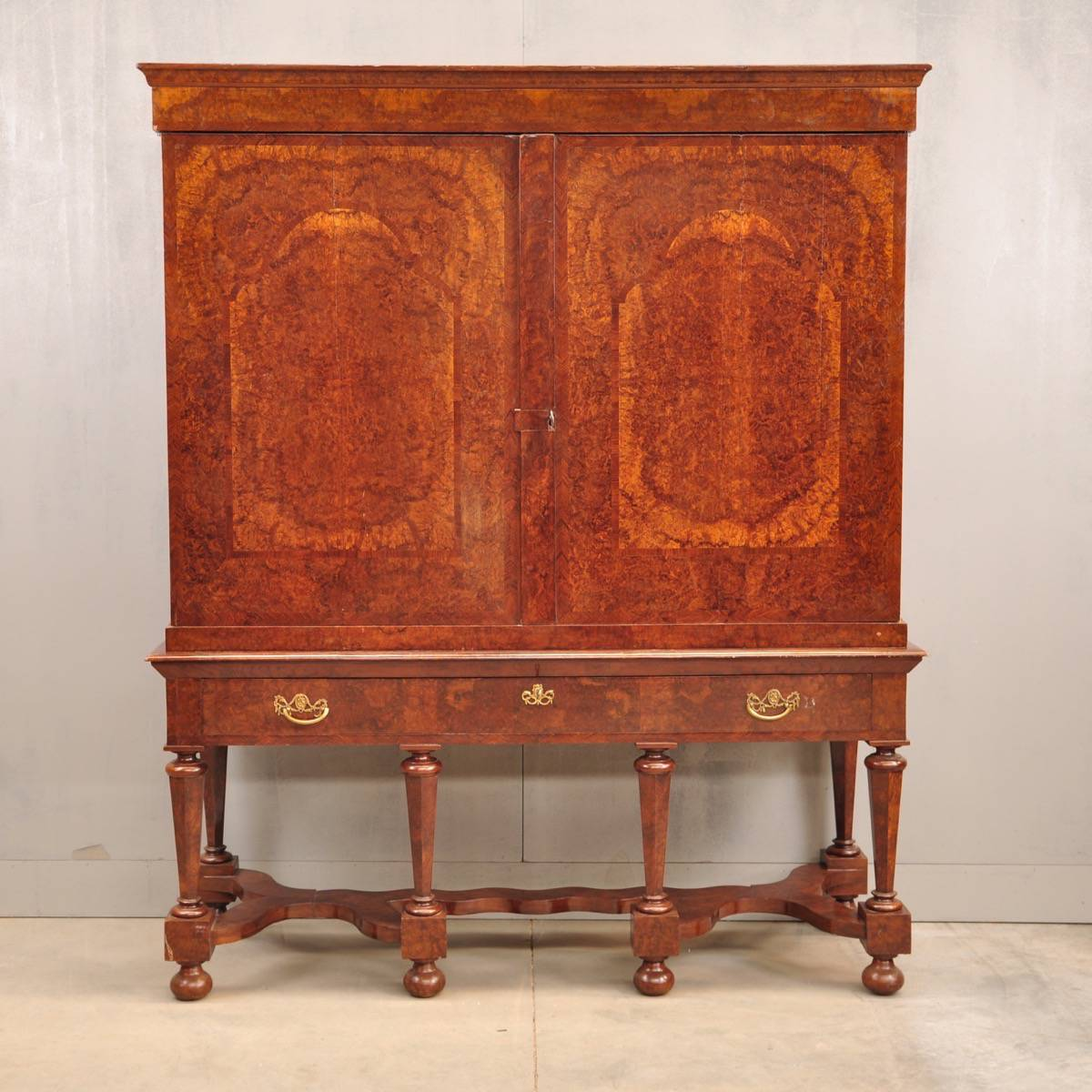 Antique walnut dutch cabinet - Antique Walnut Dutch Cabinet De Grande Antique Furniture