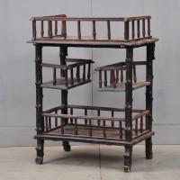Antique rustic etagere faux bois
