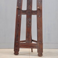 Antique spanish chestnut picture easel