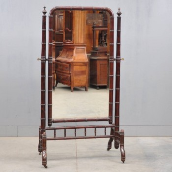 Antique standing dressing mirror