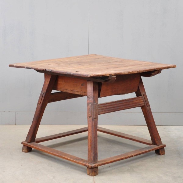 Antique table with sliding top German or Swiss