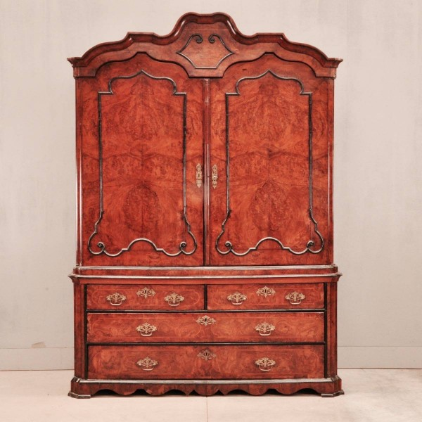 Dutch burr walnut armoire