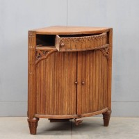 Dutch oak corner cabinet