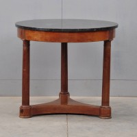 Empire Mahogany Gueridon with marble top