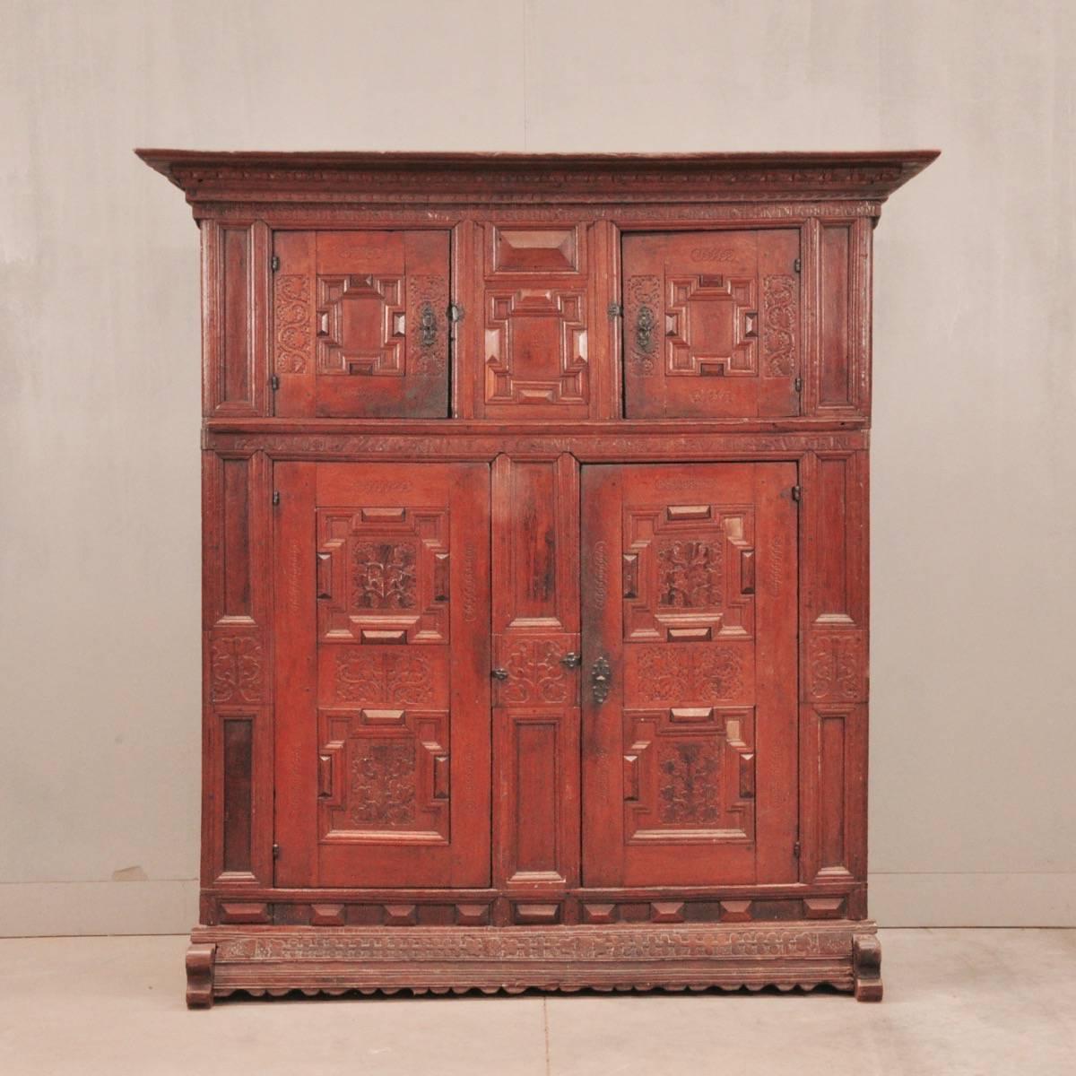 - German Oak Cupboard De Grande Antique Furniture