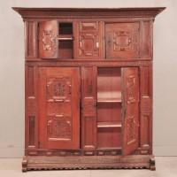 Antique german oak cupboard
