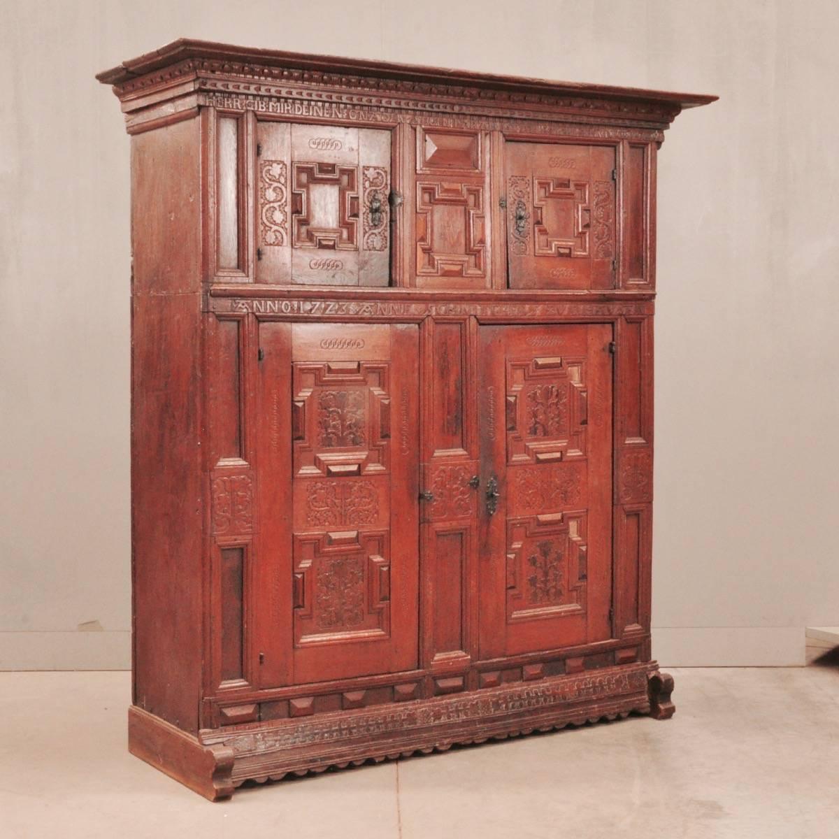 Antique german oak cupboard - German Oak Cupboard De Grande Antique Furniture