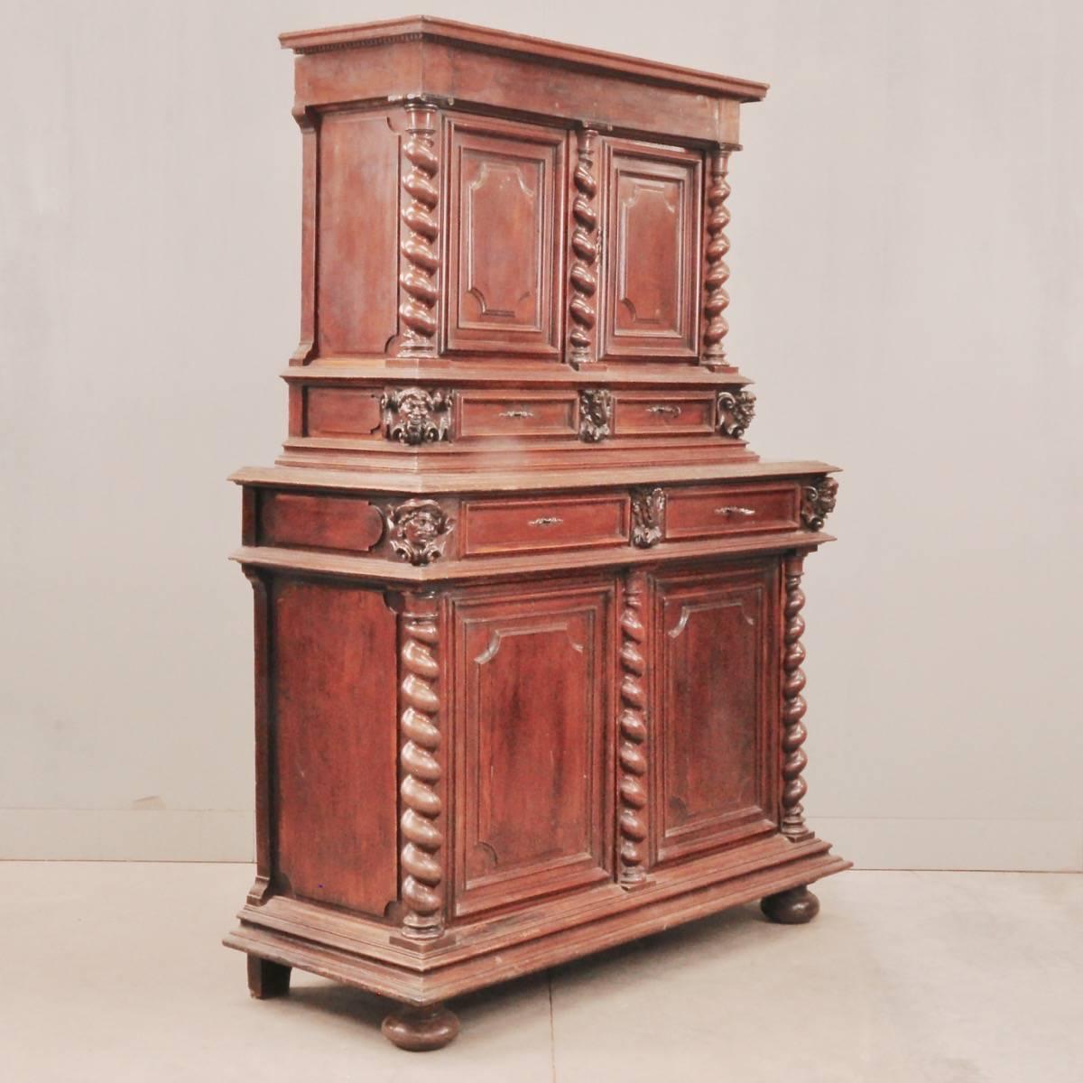 Louis XIII Walnut Cabinet