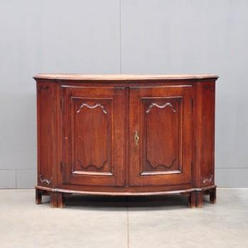 Antique Bow-front Oak French dresser | De Grande Antique Furniture