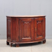 Antique Bow-front Oak French dresser | De Grande Antique Furniture