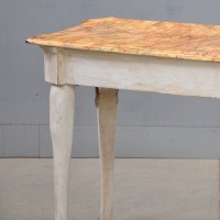 White & gold polychrome antique console table | De Grande Antique